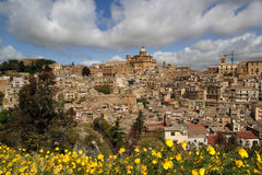 View of a typical ancient city, Sicilia Stock Images