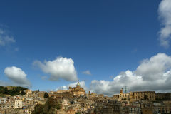 View of a typical ancient city, Sicilia, Agrigento Province Royalty Free Stock Photo