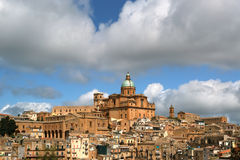 View of a typical ancient city, Sicilia, Agrigento Province Stock Photography