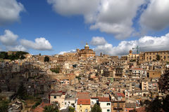View of a typical ancient city, Sicilia Stock Photography