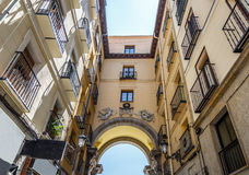 View of typical buildings from one of the entrances to the Plaza royalty free stock photo