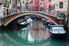View on a typical canal in Venice Stock Photography