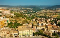 View of typical Catalan town. Cardona Stock Photos