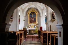 Interior of the Catholic church Stock Photography