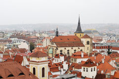 View of a typical cityscape in Prague Stock Image
