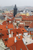 View of a typical cityscape in Prague Royalty Free Stock Photography