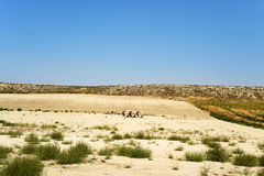 Landscape of Los Monegros in Aragon, Spain. A view of a typical dry landscape of Los Monegros in Aragon, Spain Royalty Free Stock Photos