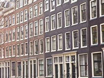 View at typical Dutch houses in Amsterdam Royalty Free Stock Image