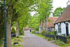 View of typical historic street in Ameland Stock Image