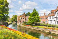 View of typical houses and buildings in Canterbury, England Stock Images