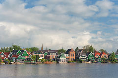 View of typical houses in the Netherlands Stock Images