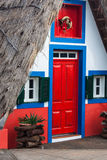 View of typical houses in Santana, Madeira island Royalty Free Stock Images
