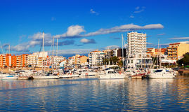 View of typical mediterranean town Royalty Free Stock Image