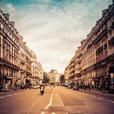 View of typical Paris street by Opera Stock Photo