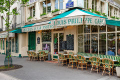 View of typical Parisian cafe. Stock Photography