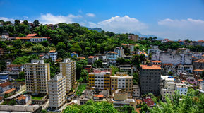 View of typical residential houses in the neighborhood of Santa Teresa Royalty Free Stock Image