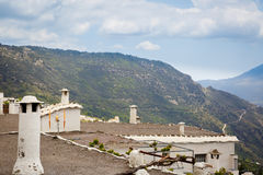 View of typical roofs of the area of the Alpujarra, Spain Royalty Free Stock Images