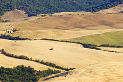 View of typical Tuscany landscape in summer Stock Photography