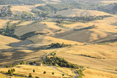 View of typical Tuscany landscape in summer Stock Image