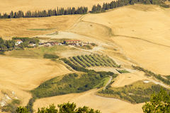 View of typical Tuscany landscape in summer Royalty Free Stock Photography