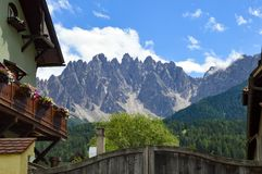 View of the Tyrol mountains in Austria from a village Stock Photo