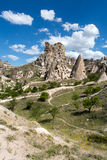 View of Uchisar castle in Cappadocia Royalty Free Stock Images