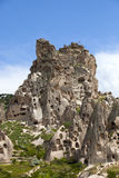 View of Uchisar castle in Cappadocia Stock Images