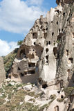 View of Uchisar castle in Cappadocia Stock Image