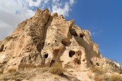 View of Uchisar castle. Cappadocia. Turkey Royalty Free Stock Photography