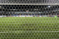 View of the UEFA Europa League game between Qabala and PAOK, beh Royalty Free Stock Photos