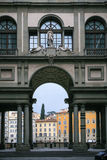 View of Uffizi Galery building and houses Royalty Free Stock Images