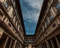 View of the Uffizi Gallery in Florence, Italy royalty free stock photos