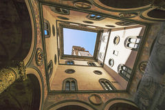A view in the Uffizi Gallery in Florence in Italy in summer Stock Photos
