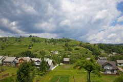 View of the Ukrainian village Royalty Free Stock Image