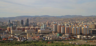 View of Ulan Bator from mountain Zaisan Stock Image