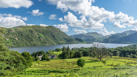 View of Ullswater Lake, Lake District, UK. Panorama view of Ullswater Lake, Lake District, UK Stock Photography