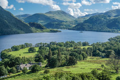 View of Ullswater Lake, Lake District, UK. Panorama view of Ullswater Lake, Lake District, UK Royalty Free Stock Photos