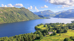 View of Ullswater Lake, Lake District, UK. Panorama view of Ullswater Lake, Lake District, UK Royalty Free Stock Images