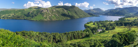 View of Ullswater Lake, Lake District, UK. Panorama view of Ullswater Lake, Lake District, UK Royalty Free Stock Image