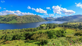 View of Ullswater Lake, Lake District, UK. Panorama view of Ullswater Lake, Lake District, UK Stock Photos