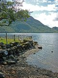 A view of Ullswater on a rainy day Royalty Free Stock Photography