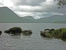 A view of Ullswater on a rainy day Stock Images