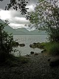 A view of Ullswater on a rainy day Stock Photography