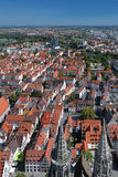 View on Ulm from the tower of Ulm Minster, Germany Royalty Free Stock Photography