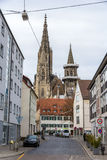 View of Ulm Minster - Germany, Baden-Wurttemberg Royalty Free Stock Images