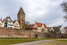 View of Ulm town - Germany, Baden-Wurttemberg Royalty Free Stock Images