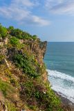 View of Uluwatu temple on the cliff in Bali Royalty Free Stock Photography