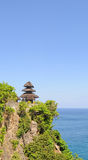 View of Uluwatu temple on the rock in Bali, Indonesia Stock Photo