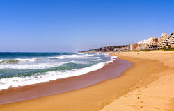 View of Umdloti Beacfront in Durban South Africa royalty free stock photography