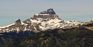 A View of Uncompahgre Peak, Highest Summit of the San Juan Mount. Ains, as Seen from Slumgullion Pass Stock Images